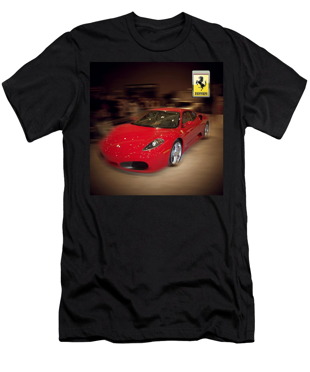�auto Corner� Collection By Serge Averbukh T-Shirt featuring the photograph Ferrari F430 - The Red Beast by Serge Averbukh