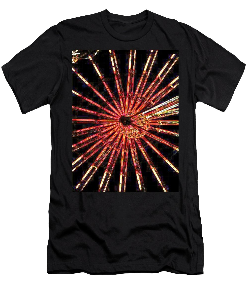 Ferris Wheel Men's T-Shirt (Athletic Fit) featuring the digital art Ferris Wheel by Tim Allen