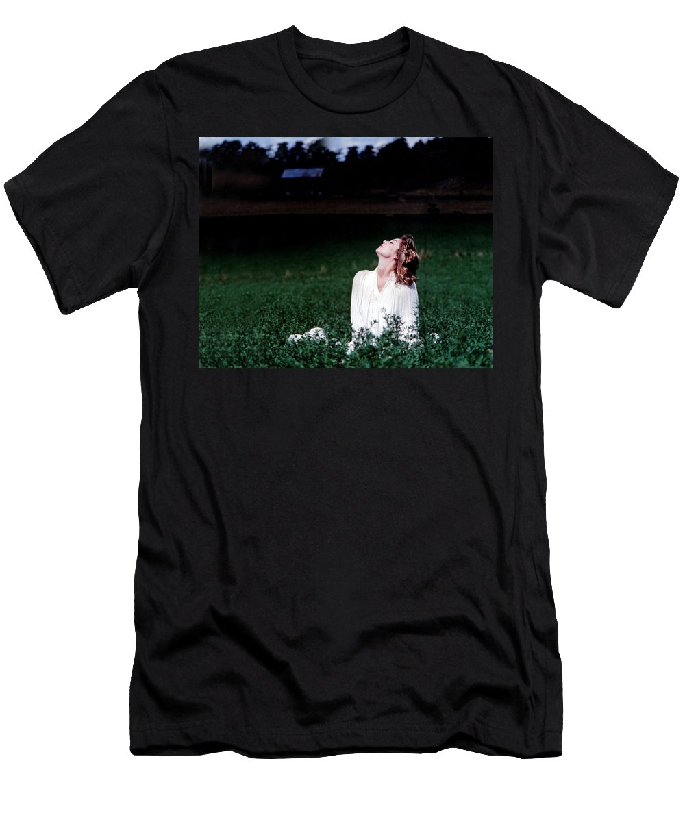 Woman Men's T-Shirt (Athletic Fit) featuring the photograph Field Of Dreams by D'Arcy Evans