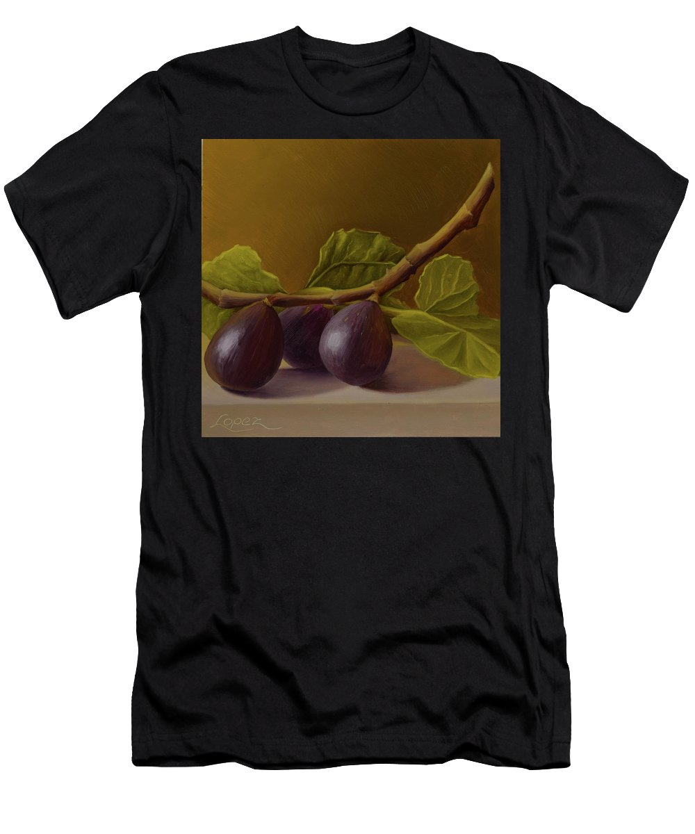 Summer Fruit Men's T-Shirt (Athletic Fit) featuring the painting Figs From Walter's Orchard by Gema Lopez
