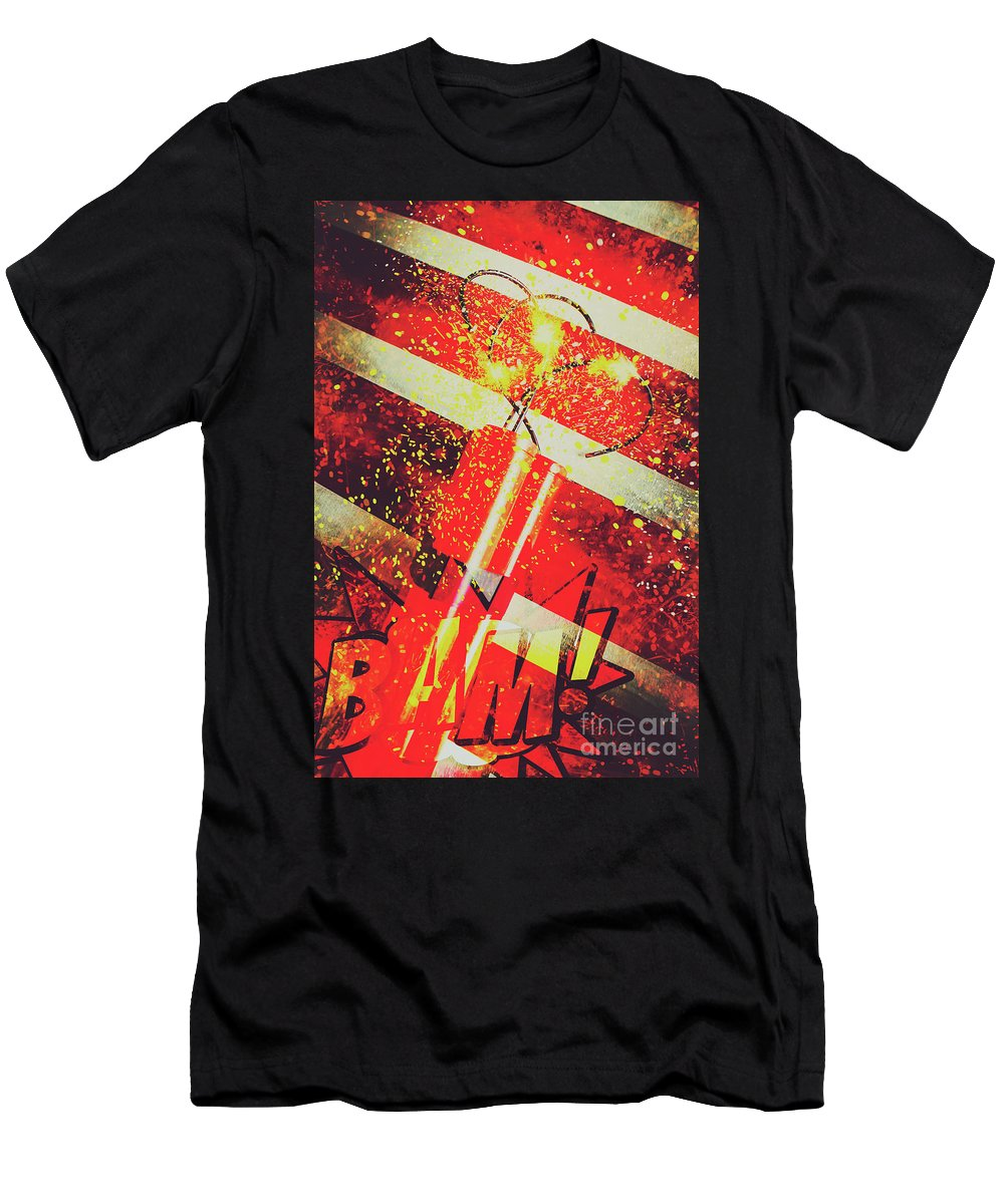 Meltdown Men's T-Shirt (Athletic Fit) featuring the digital art Financial Meltdown Coming Soon by Jorgo Photography - Wall Art Gallery