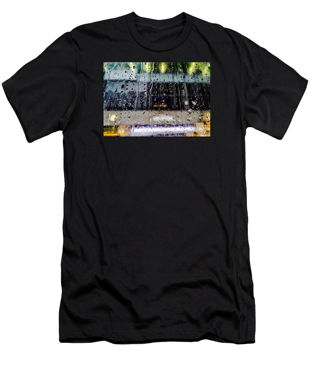 Rain Men's T-Shirt (Athletic Fit) featuring the photograph Finding Fault by Angelo Merluccio