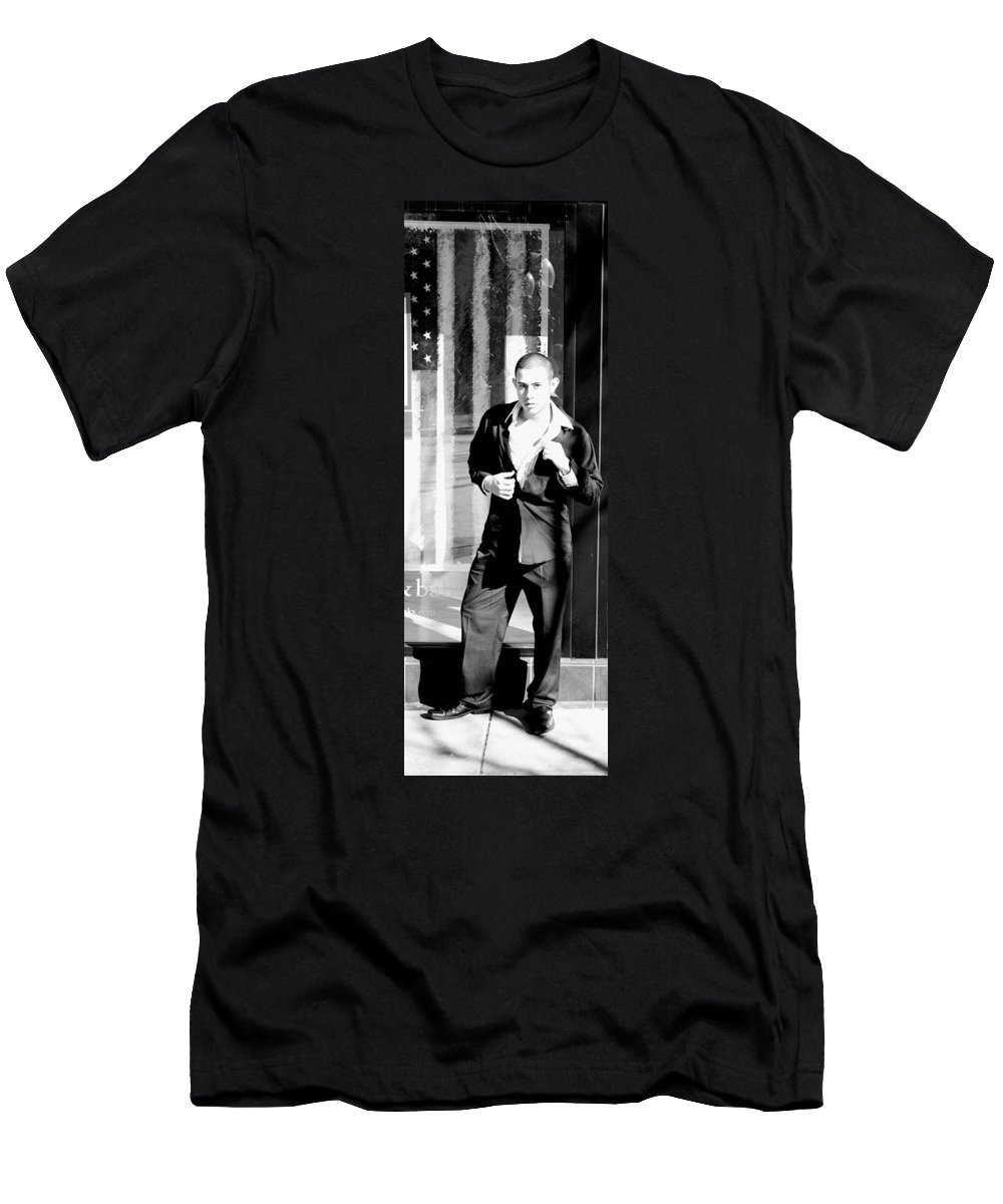 America Men's T-Shirt (Athletic Fit) featuring the photograph Fine American Model by Angus Hooper Iii