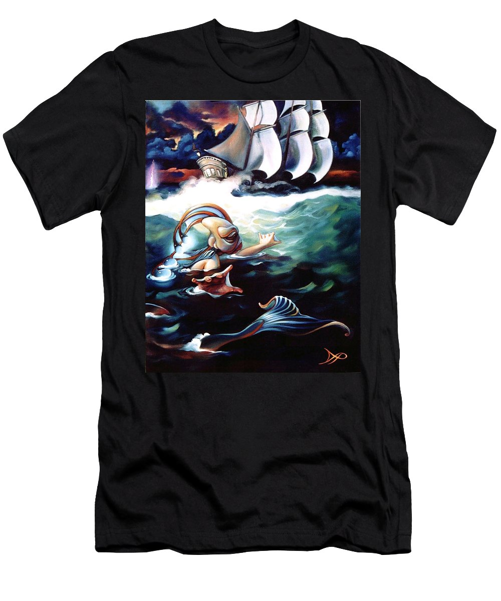 Seafarer Men's T-Shirt (Athletic Fit) featuring the painting Finnegan's Quest by Patrick Anthony Pierson