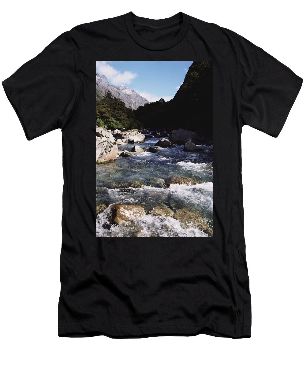 Beautiful Men's T-Shirt (Athletic Fit) featuring the photograph Fiordlands National Park by Doug Cameron - Printscapes