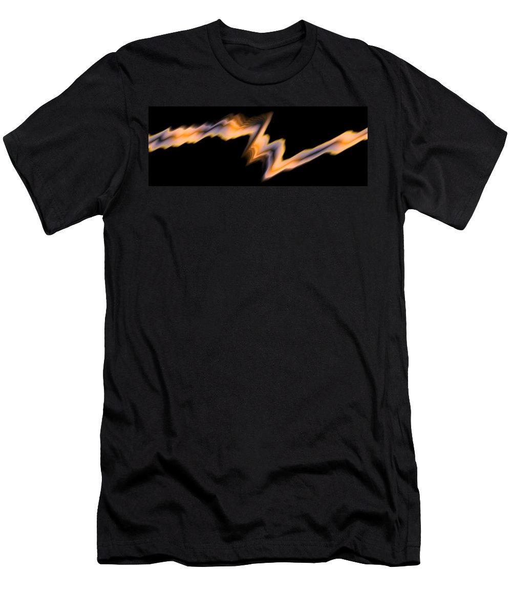 Art Digital Art Men's T-Shirt (Athletic Fit) featuring the digital art Fire by Alex Porter