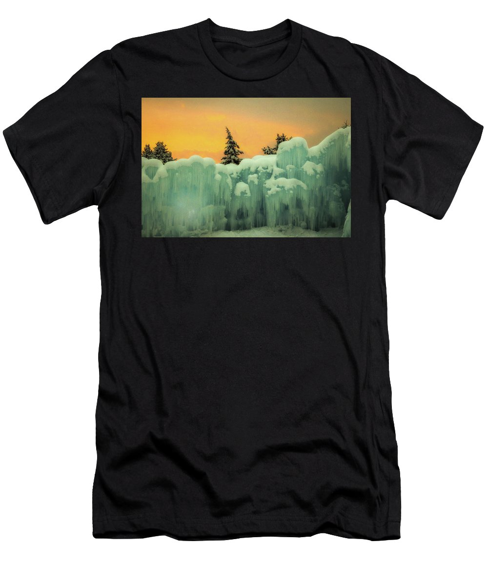 Landscape Men's T-Shirt (Athletic Fit) featuring the photograph Fire And Ice by Mark Memmott