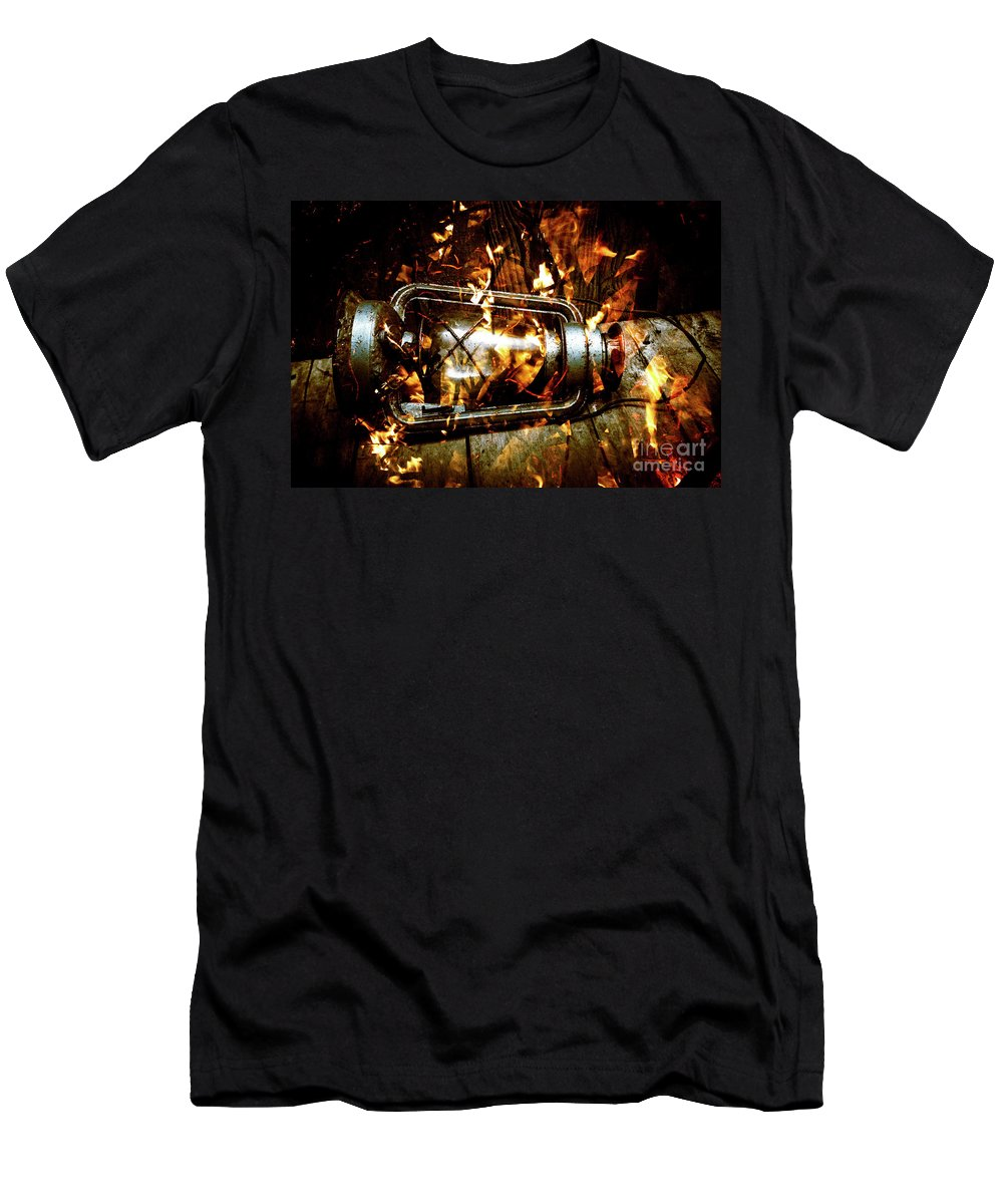 Lantern Men's T-Shirt (Athletic Fit) featuring the photograph Fire In The Hen House by Jorgo Photography - Wall Art Gallery