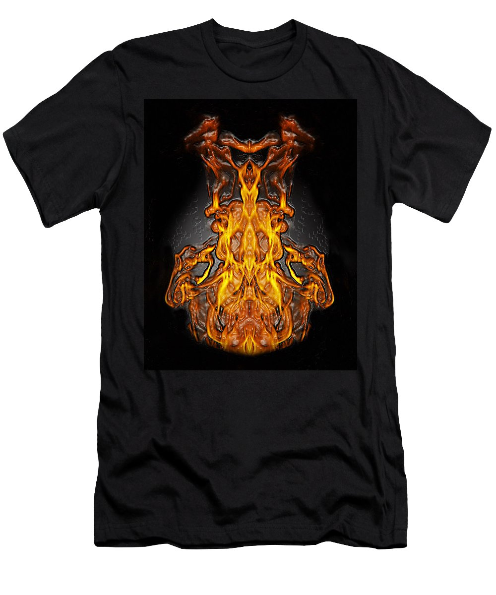 Devil Men's T-Shirt (Athletic Fit) featuring the photograph Fire Leather by Peter Piatt
