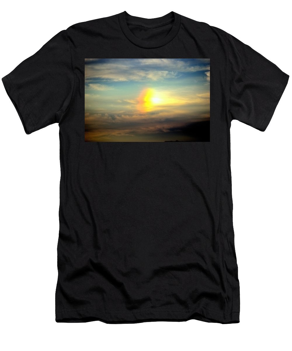Fire Rainbow Men's T-Shirt (Athletic Fit) featuring the photograph Fire Rainbow by Charles J Pfohl