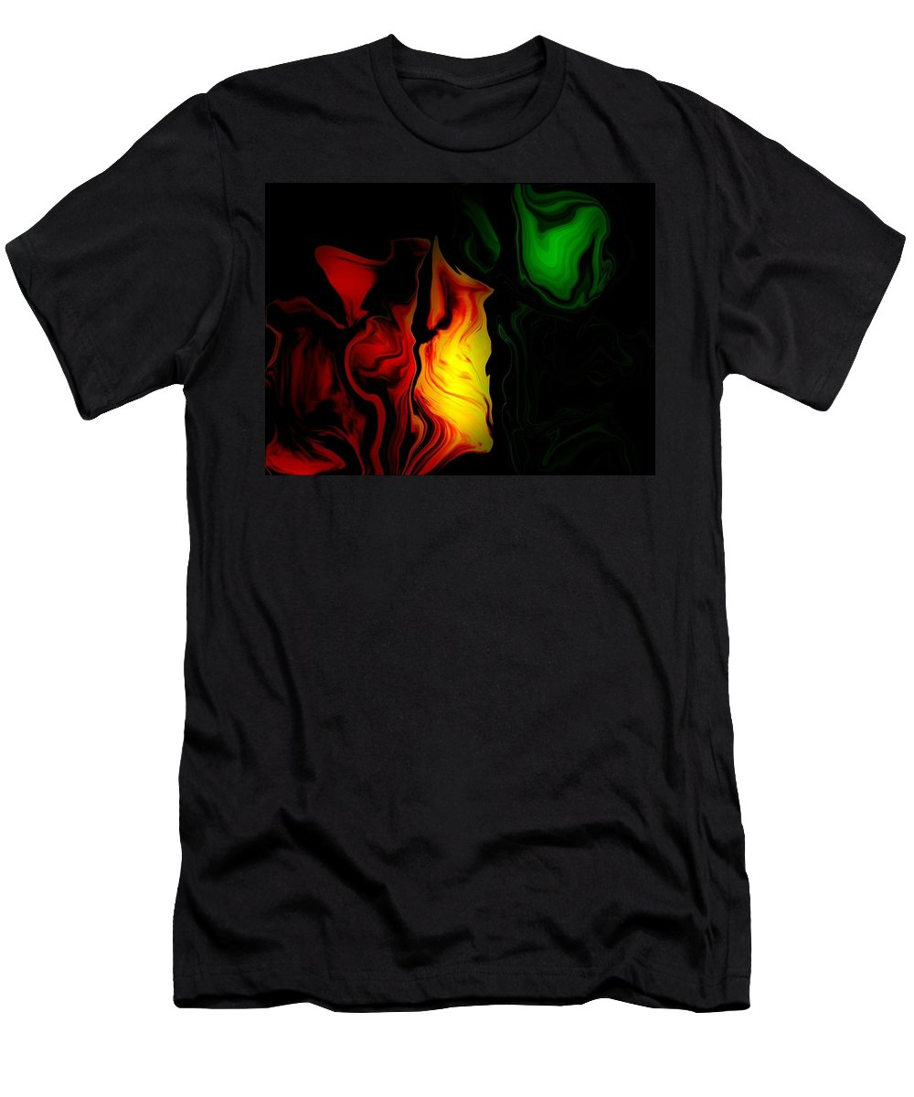 Fire Rose Men's T-Shirt (Athletic Fit) featuring the digital art Fire Rose by Ruby Nale
