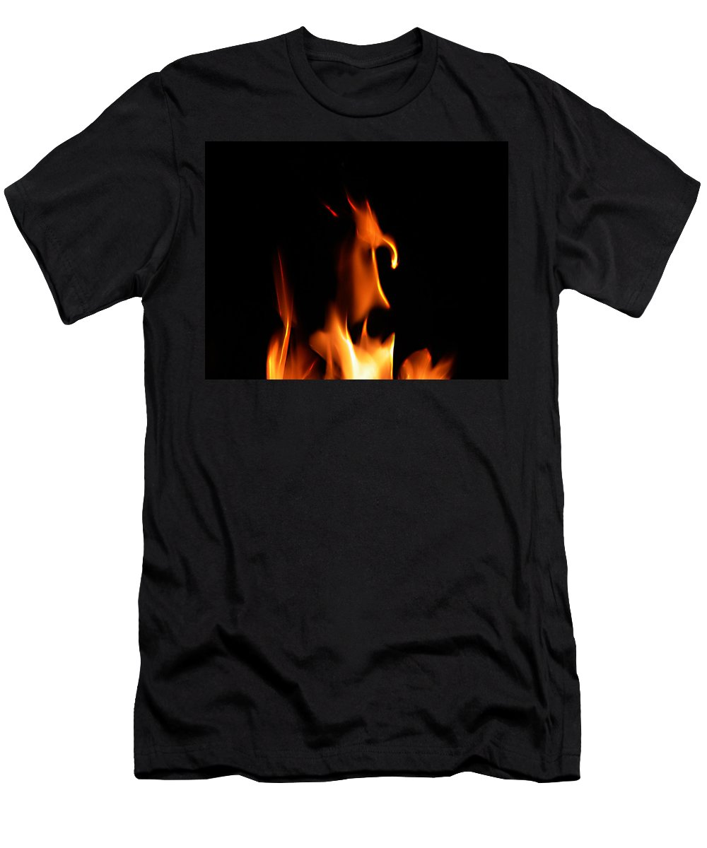 Cartoon Character Fire Men's T-Shirt (Athletic Fit) featuring the photograph Fire Toon by Peter Piatt