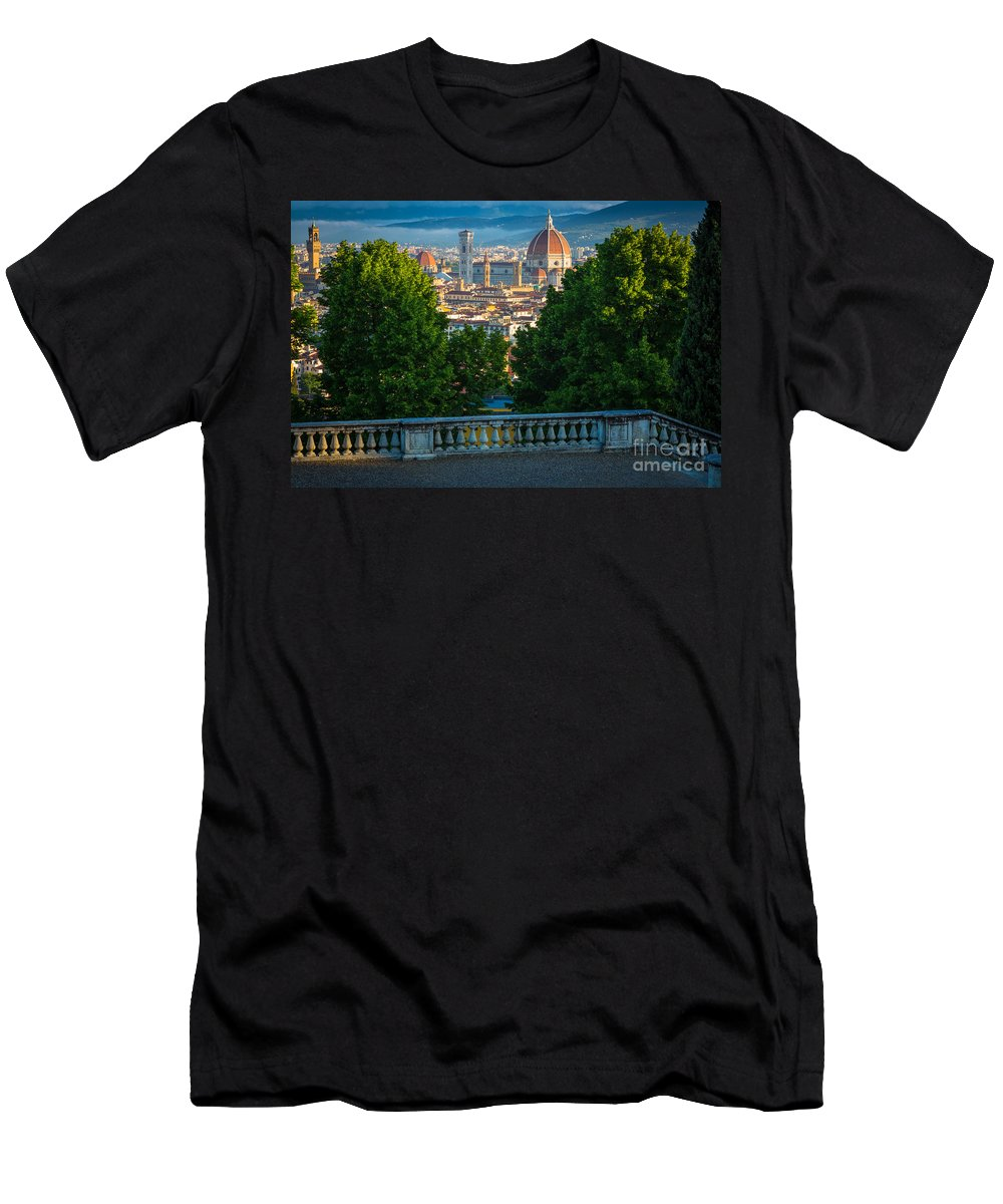 Europe Men's T-Shirt (Athletic Fit) featuring the photograph Firenze Vista by Inge Johnsson