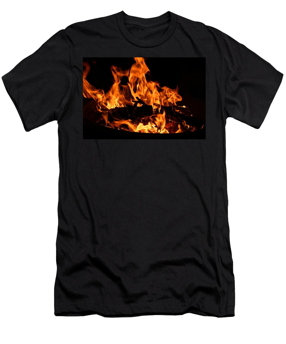 Firepit Men's T-Shirt (Athletic Fit) featuring the photograph Firepit by Kathryn Meyer