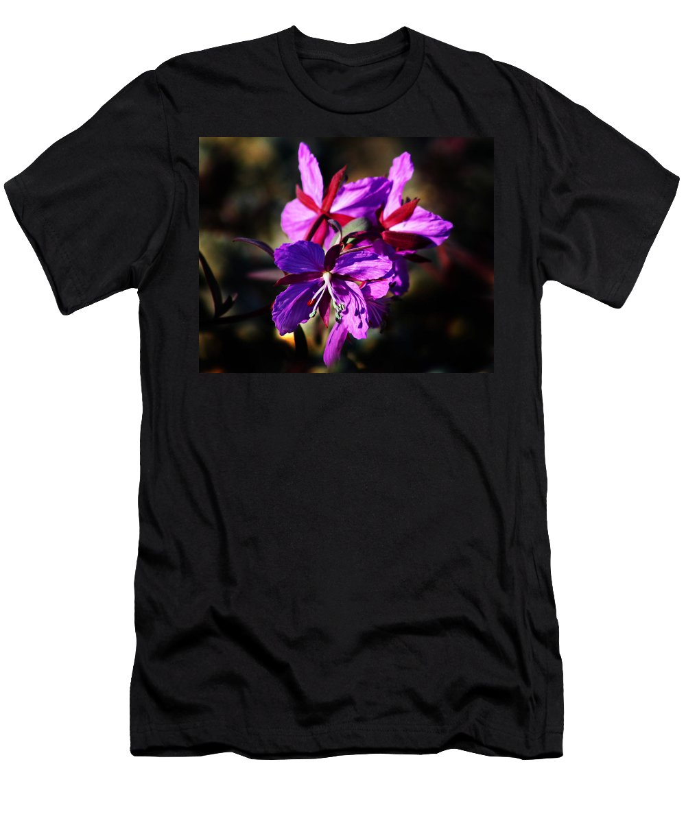 Fireweed Men's T-Shirt (Athletic Fit) featuring the photograph Fireweed by Anthony Jones