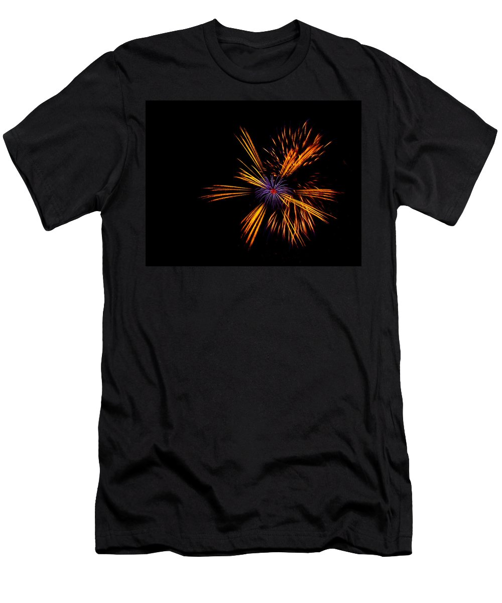 Firework Men's T-Shirt (Athletic Fit) featuring the photograph Firework Fun by Dawn OConnor