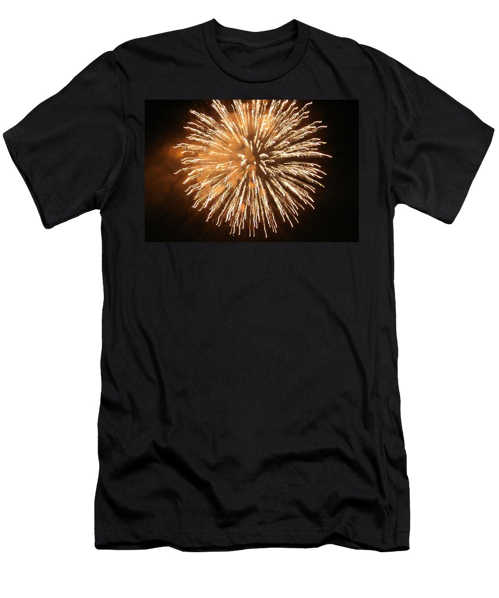 Fire Men's T-Shirt (Athletic Fit) featuring the digital art Fireworks In The Park 5 by Gary Baird