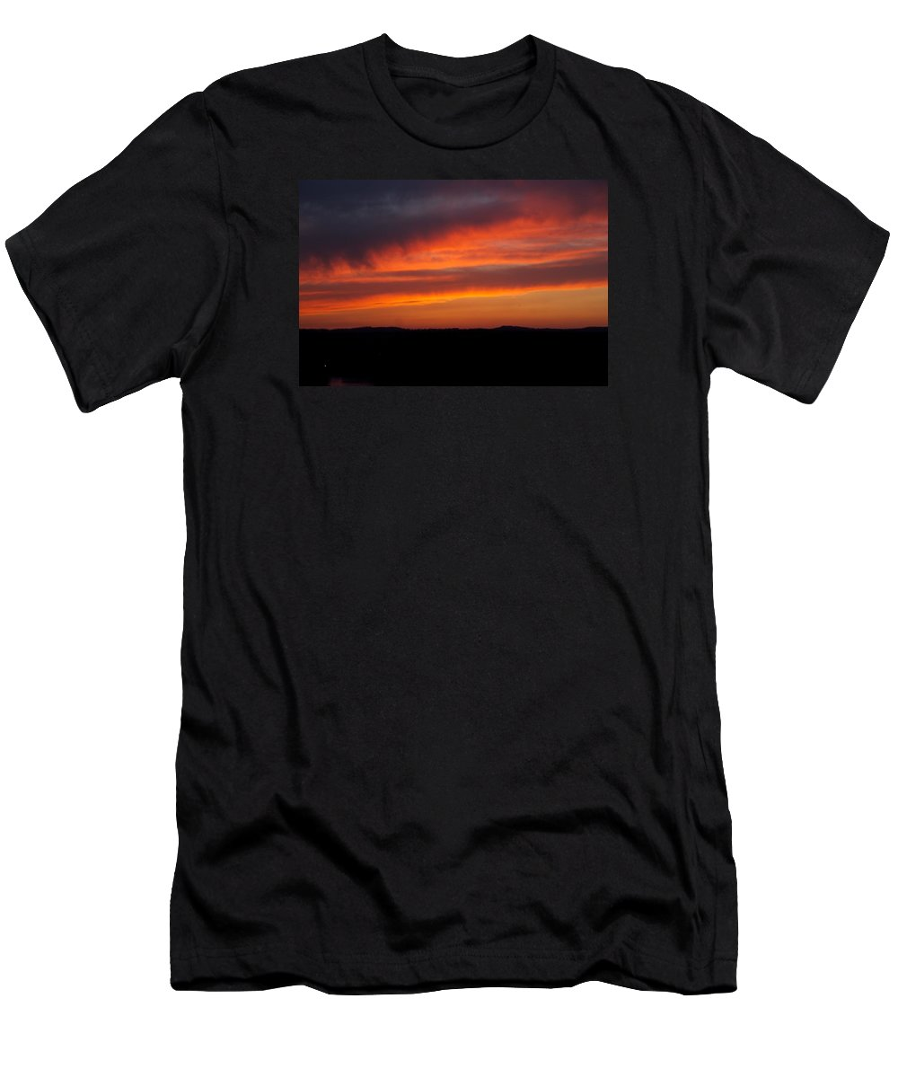 Red Sunset T-Shirt featuring the photograph Firey Skies by Toni Berry