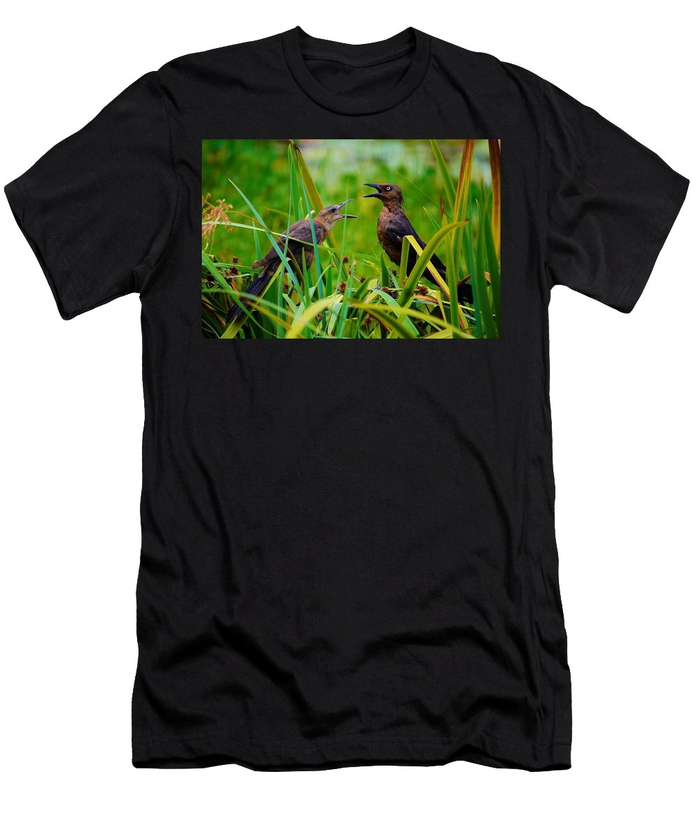 Wildlife Men's T-Shirt (Athletic Fit) featuring the photograph First Date by Joseph Bruno Pelle