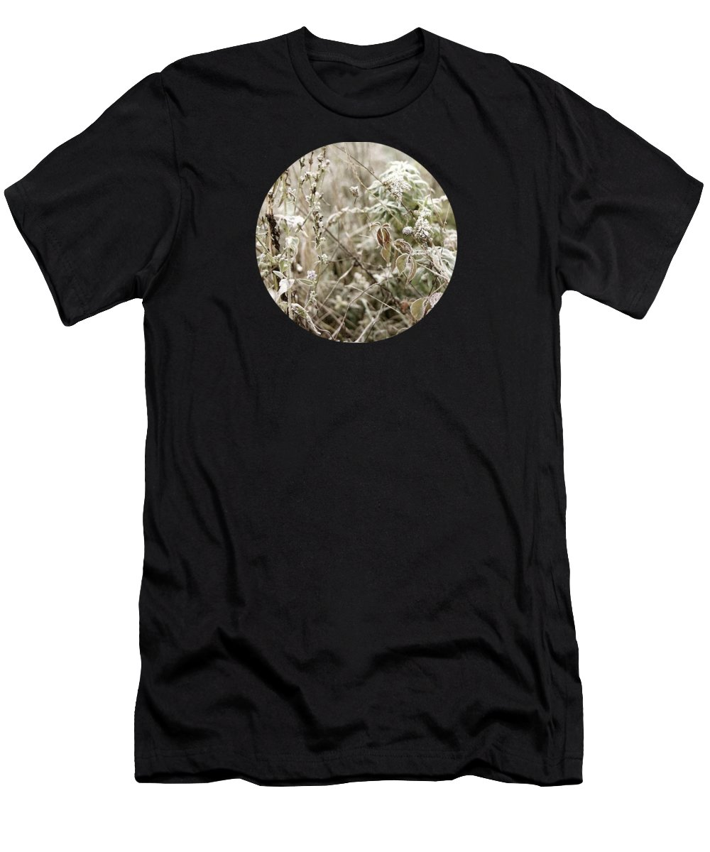 Winter T-Shirt featuring the photograph First Frost by Mary Wolf