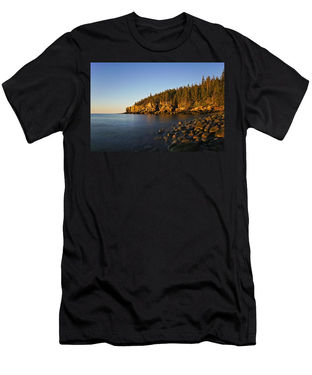 Acadia Men's T-Shirt (Athletic Fit) featuring the photograph First Light by Brian Kamprath