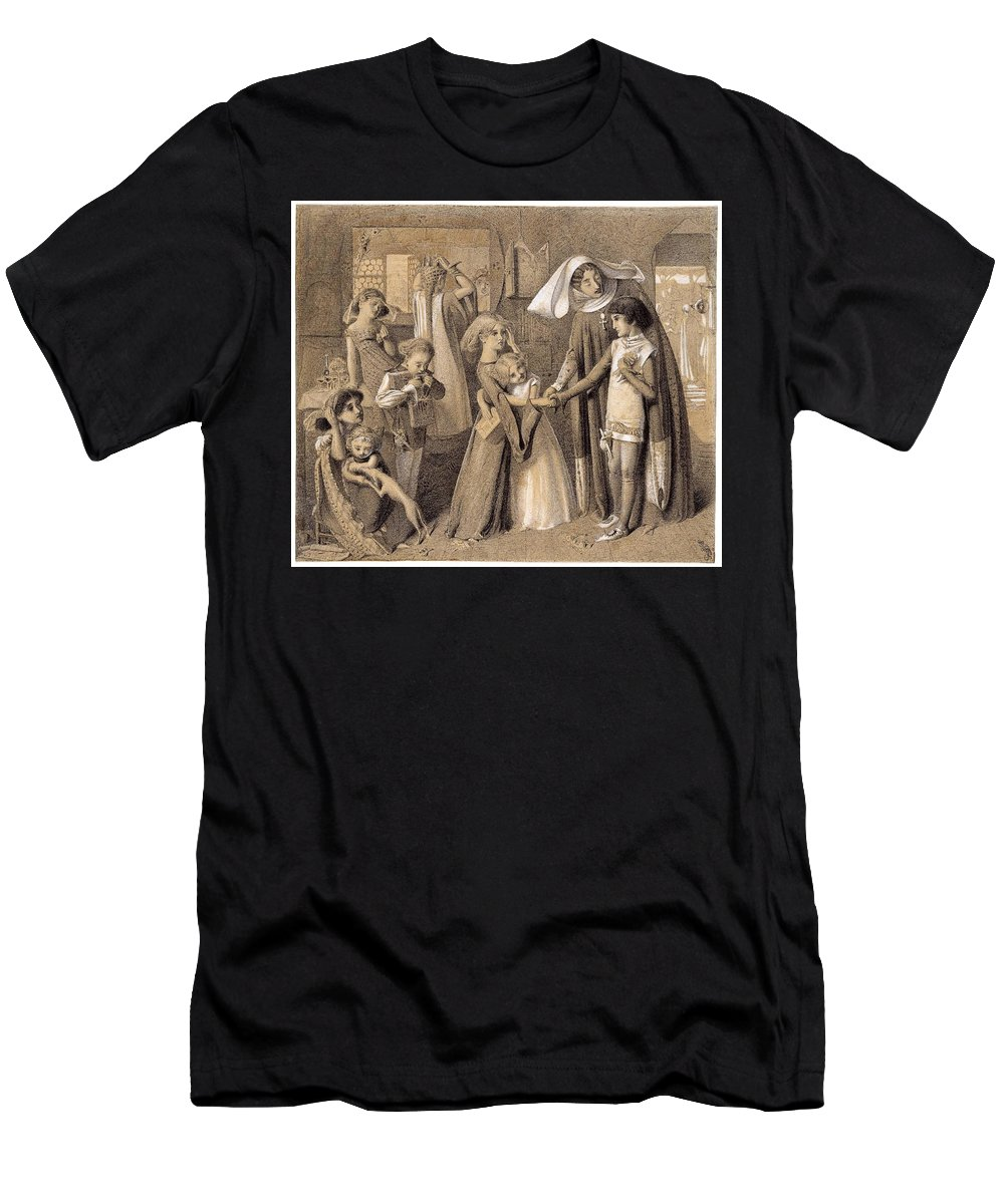 Simeon Solomon 'dante's First Meeting With Beatrice' Men's T-Shirt (Athletic Fit) featuring the painting First Meeting With Beatrice by MotionAge Designs