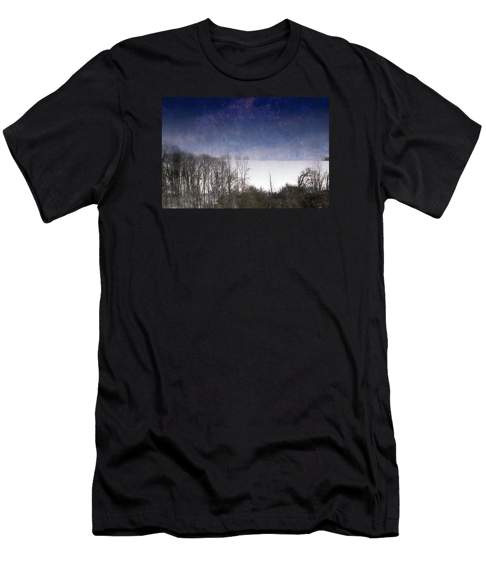Snow Men's T-Shirt (Athletic Fit) featuring the photograph First Snowfall by Shelley Smith