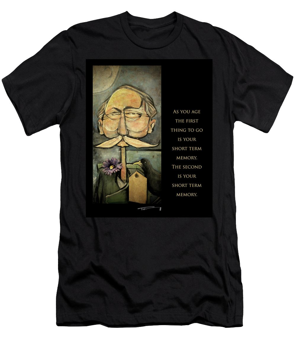 Aging Men's T-Shirt (Athletic Fit) featuring the painting First Thing To Go - Poster by Tim Nyberg