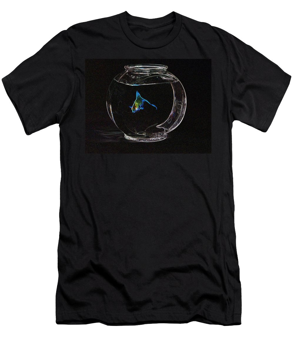 Fish Men's T-Shirt (Athletic Fit) featuring the photograph Fishbowl by Tim Allen