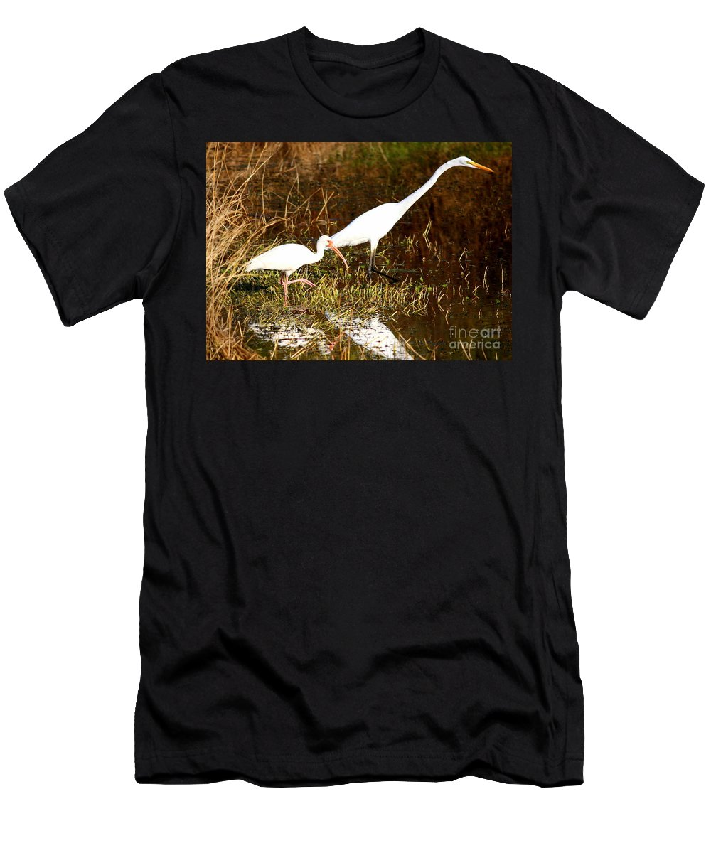 Ibis Men's T-Shirt (Athletic Fit) featuring the photograph Fishing Buddies by Carol Groenen