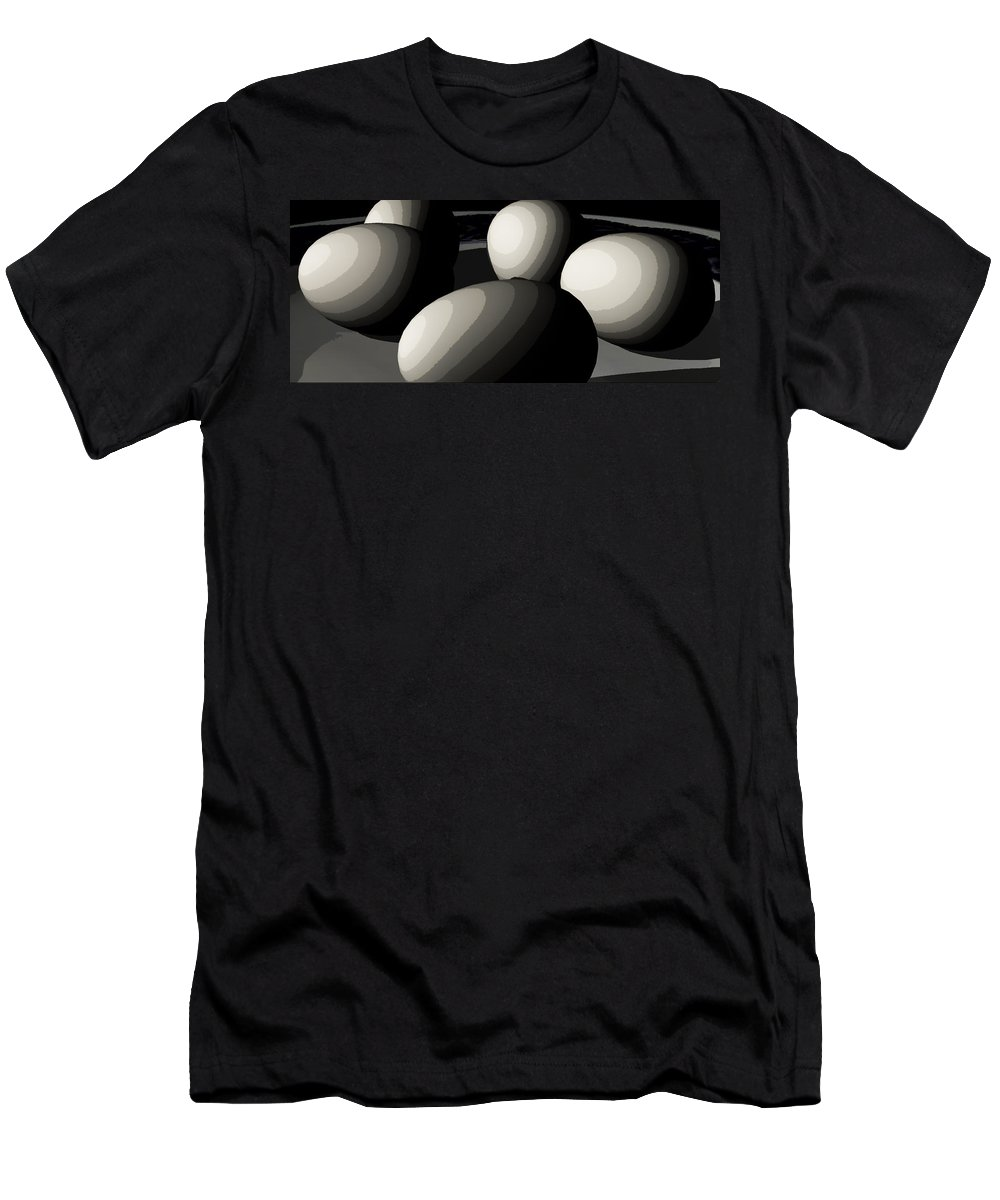 Eggs Men's T-Shirt (Athletic Fit) featuring the digital art Five Eggs by James Barnes
