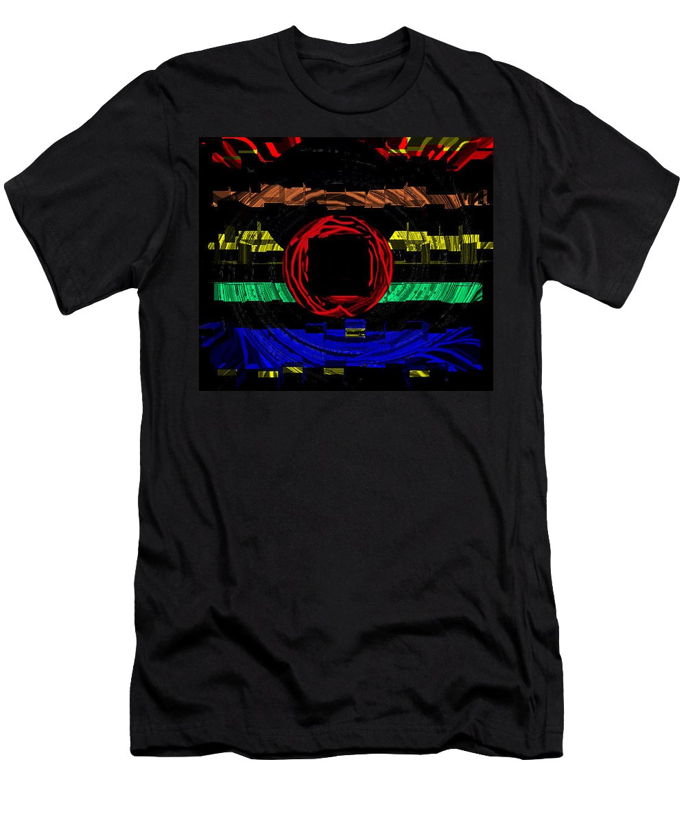 Abstract Men's T-Shirt (Athletic Fit) featuring the digital art Five Levels by Ian MacDonald