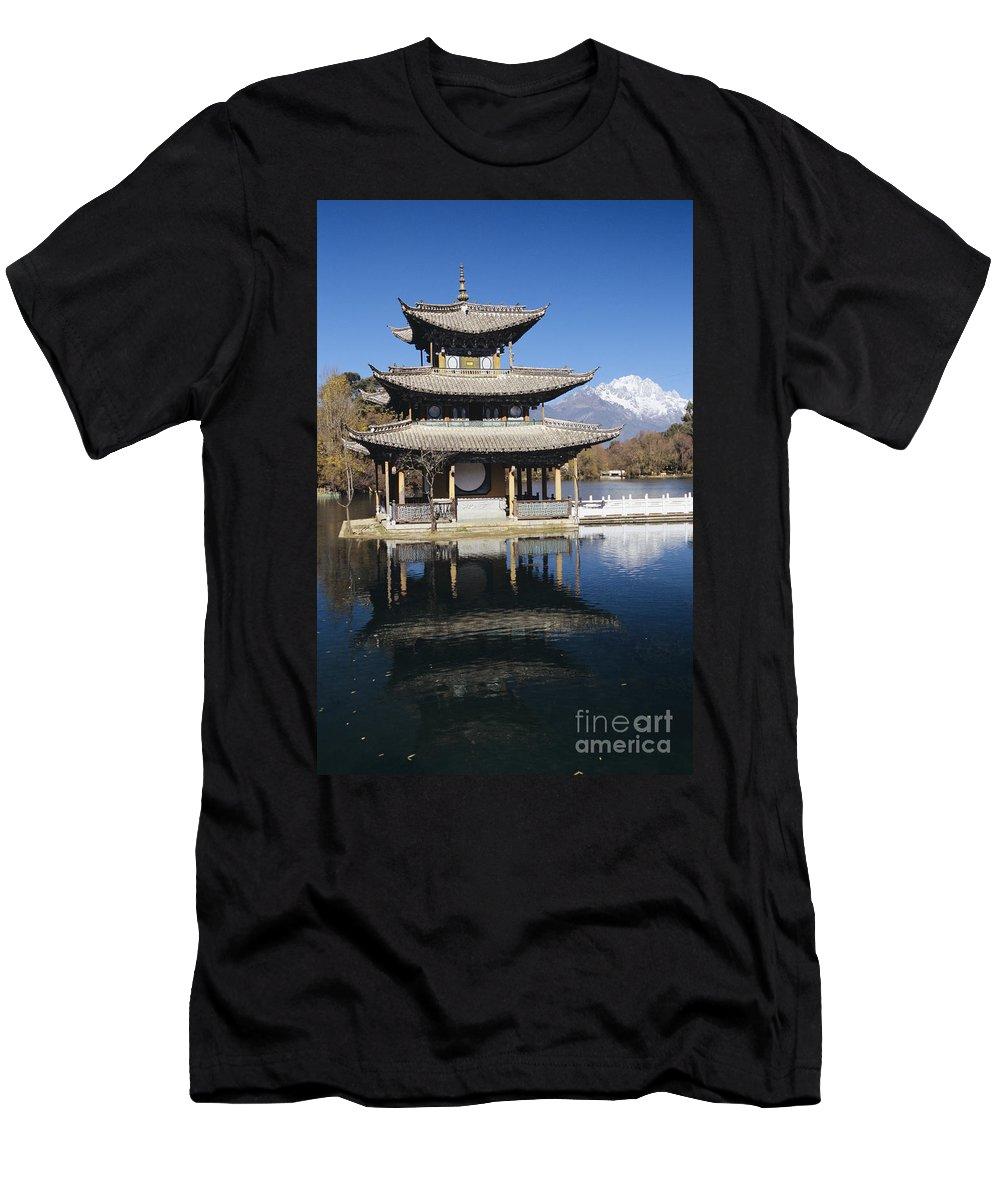 Architecture Men's T-Shirt (Athletic Fit) featuring the photograph Five Pheonix Pavilion by Gloria & Richard Maschmeyer - Printscapes