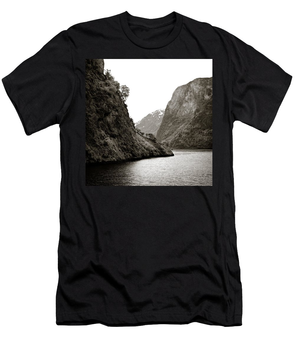 Norway Men's T-Shirt (Athletic Fit) featuring the photograph Fjord Beauty by Dave Bowman
