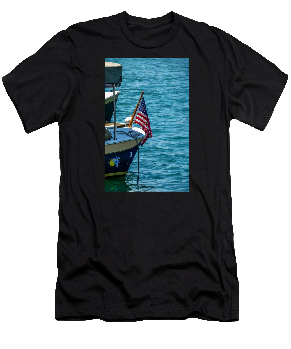 4th Of July Men's T-Shirt (Athletic Fit) featuring the photograph Flagstaff by Pamela Newcomb