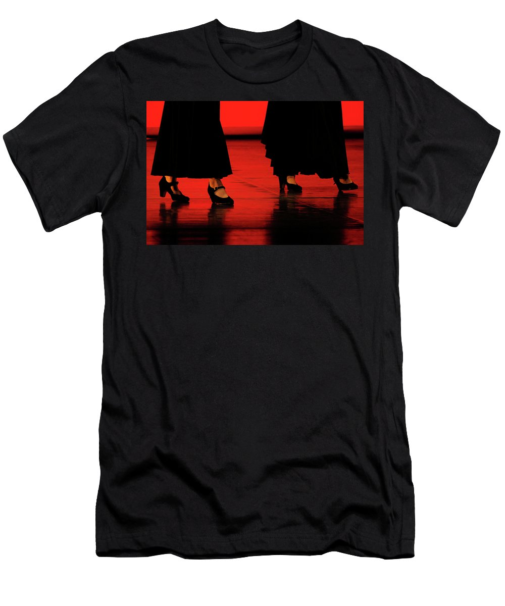 Red Men's T-Shirt (Athletic Fit) featuring the photograph Flamenco 2 by Pedro Cardona Llambias