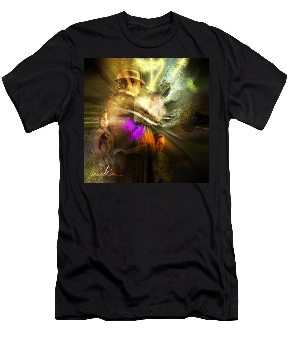 Spain Men's T-Shirt (Athletic Fit) featuring the painting Flamenco by Miki De Goodaboom