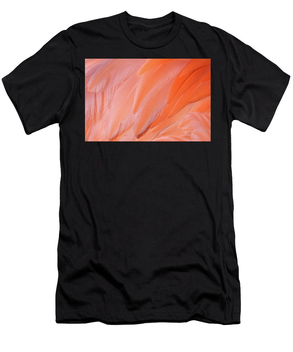 Flamingo Flow Men's T-Shirt (Athletic Fit) featuring the photograph Flamingo Flow 4 by Michael Hubley