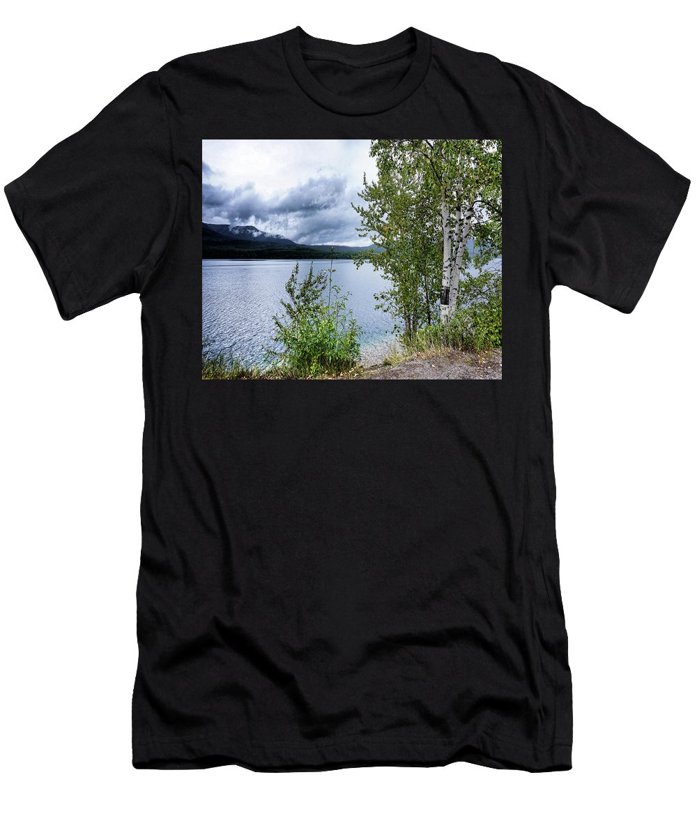 Lake Men's T-Shirt (Athletic Fit) featuring the photograph Flathead Lake 5 by Darrell Mcgahhey