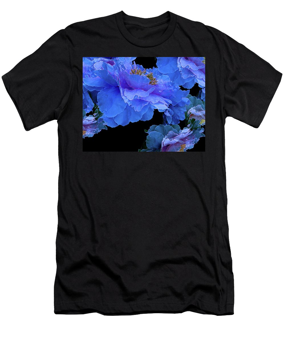 Peony Fantasies Men's T-Shirt (Athletic Fit) featuring the photograph Floating Bouquet 10 by Lynda Lehmann