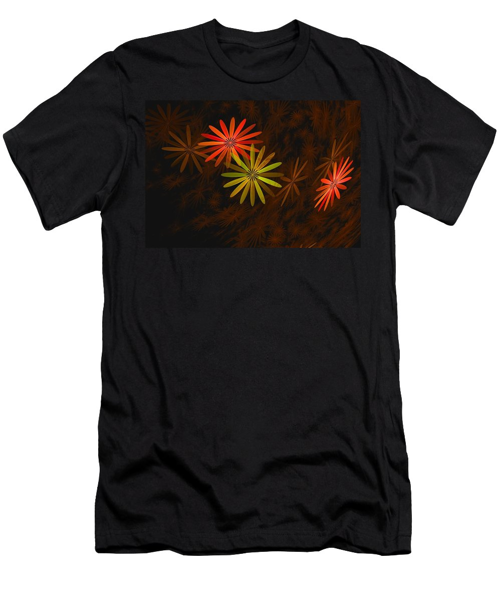 Digital Photography T-Shirt featuring the digital art Floating Floral-008 by David Lane