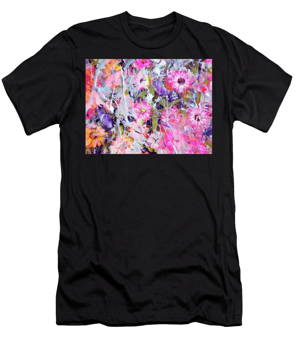 Flowers Men's T-Shirt (Athletic Fit) featuring the photograph Floral Art Clviii by Tina Baxter