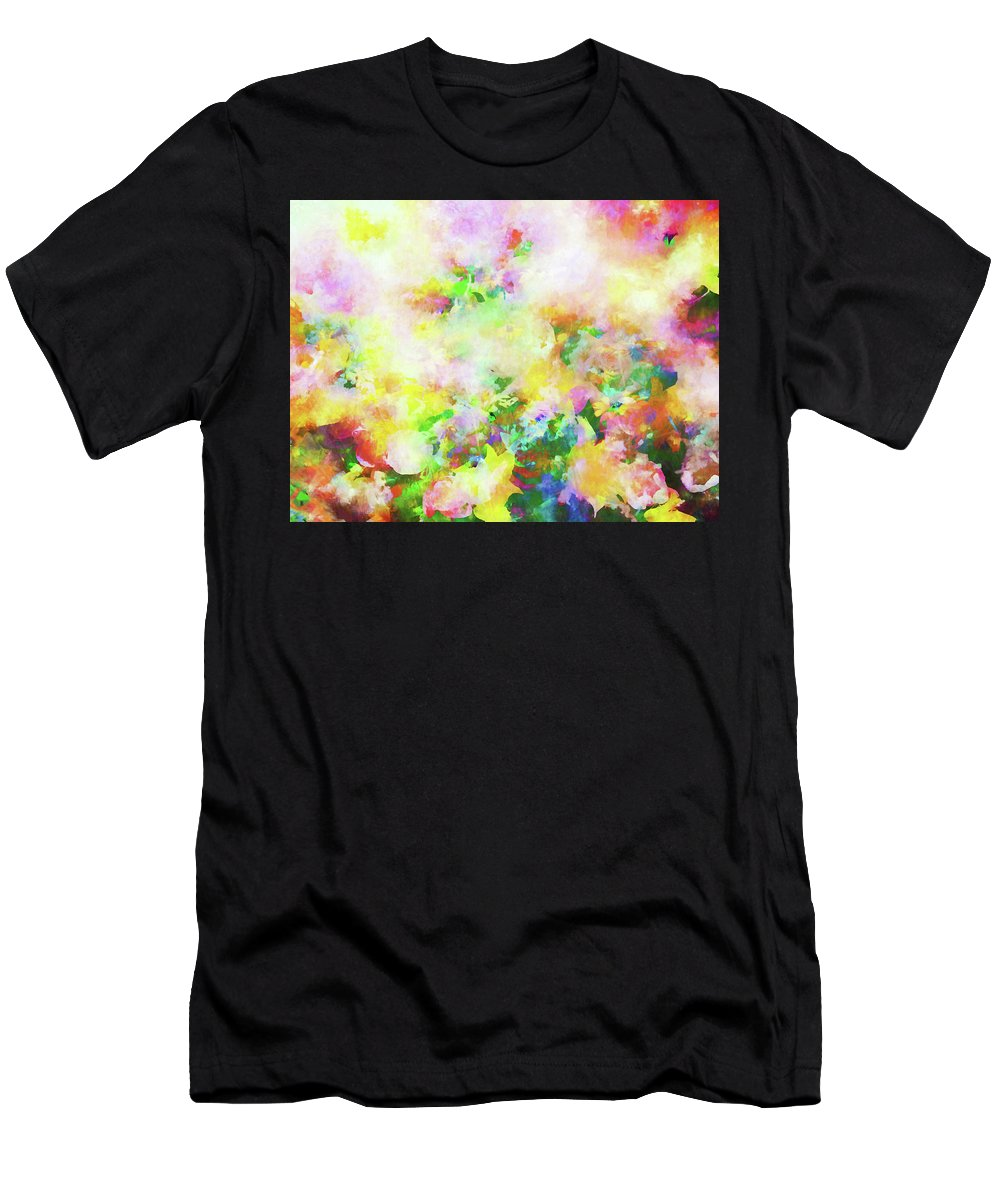 Flowers Men's T-Shirt (Athletic Fit) featuring the photograph Floral Art Clxiv by Tina Baxter