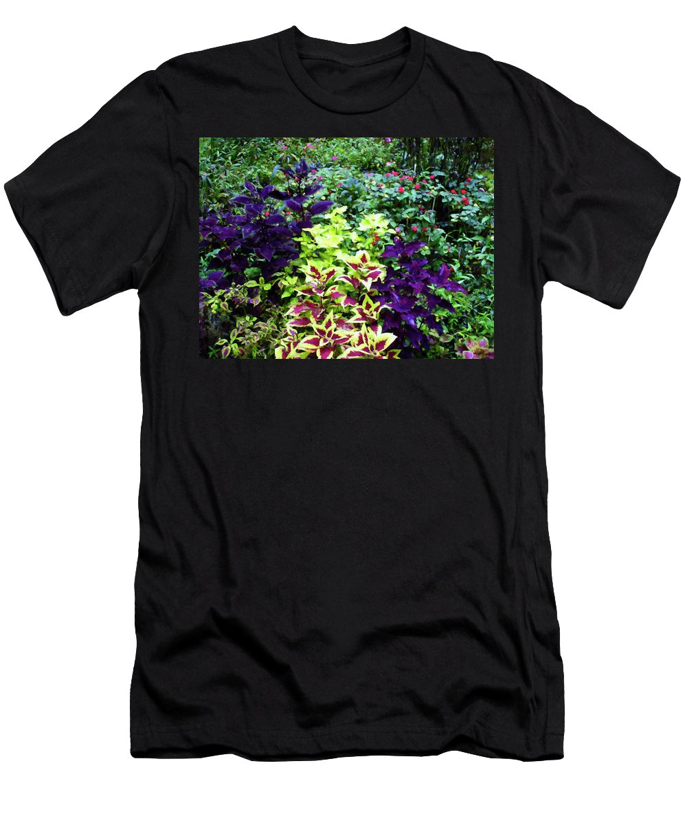 Home Decor Men's T-Shirt (Athletic Fit) featuring the painting Floral Print 005 by Chris Flees