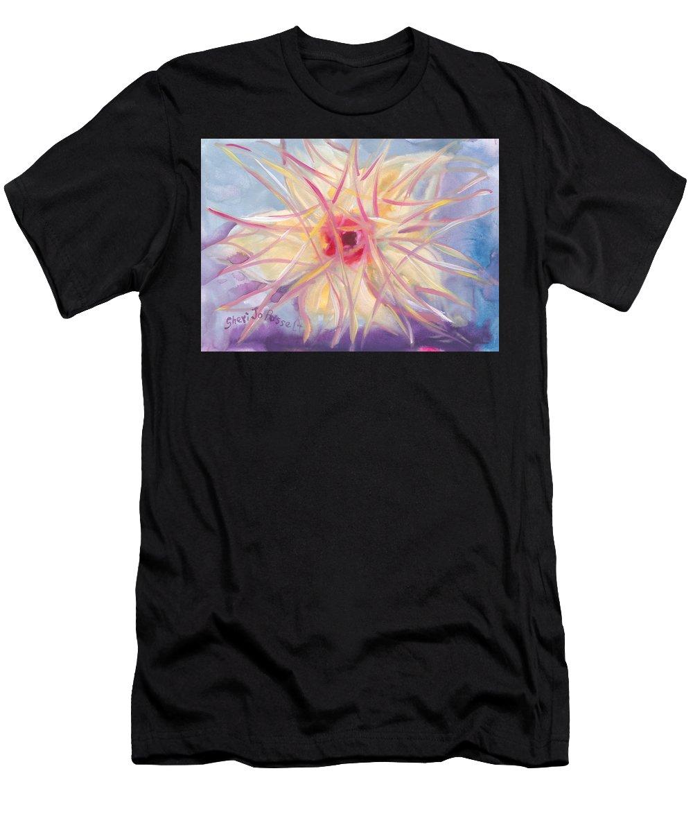 Floral Spirit Of Growth Men's T-Shirt (Athletic Fit) featuring the painting Floral Spirit Of Growth by Sheri Jo Posselt