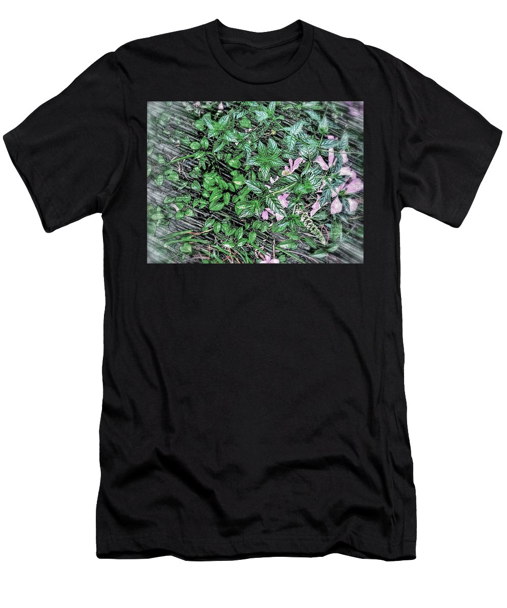 Floral Still Life -pastel Men's T-Shirt (Athletic Fit) featuring the photograph Floral Still Life -pastel by Olga Lyakh