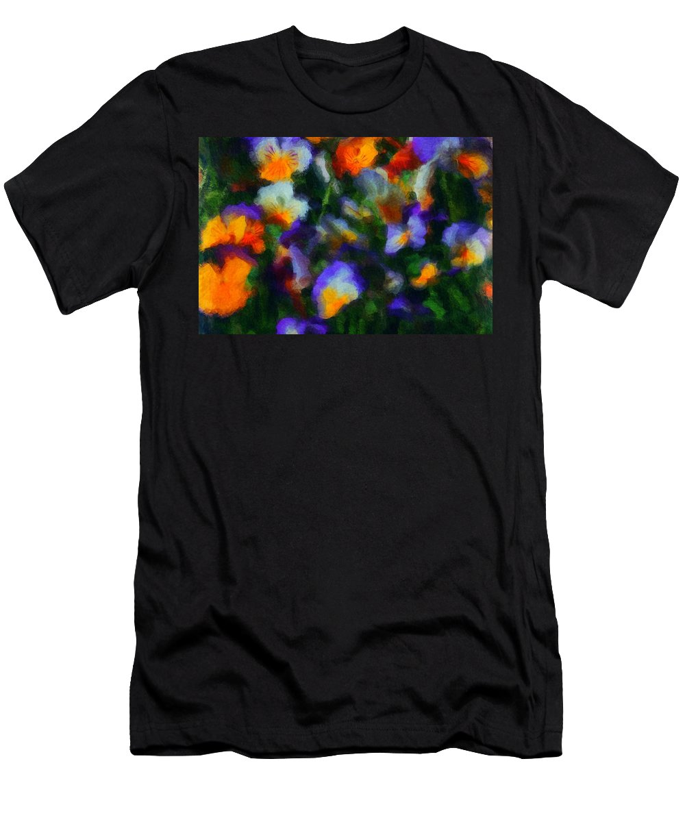 Digital Photography Men's T-Shirt (Athletic Fit) featuring the photograph Floral Study 053010a by David Lane