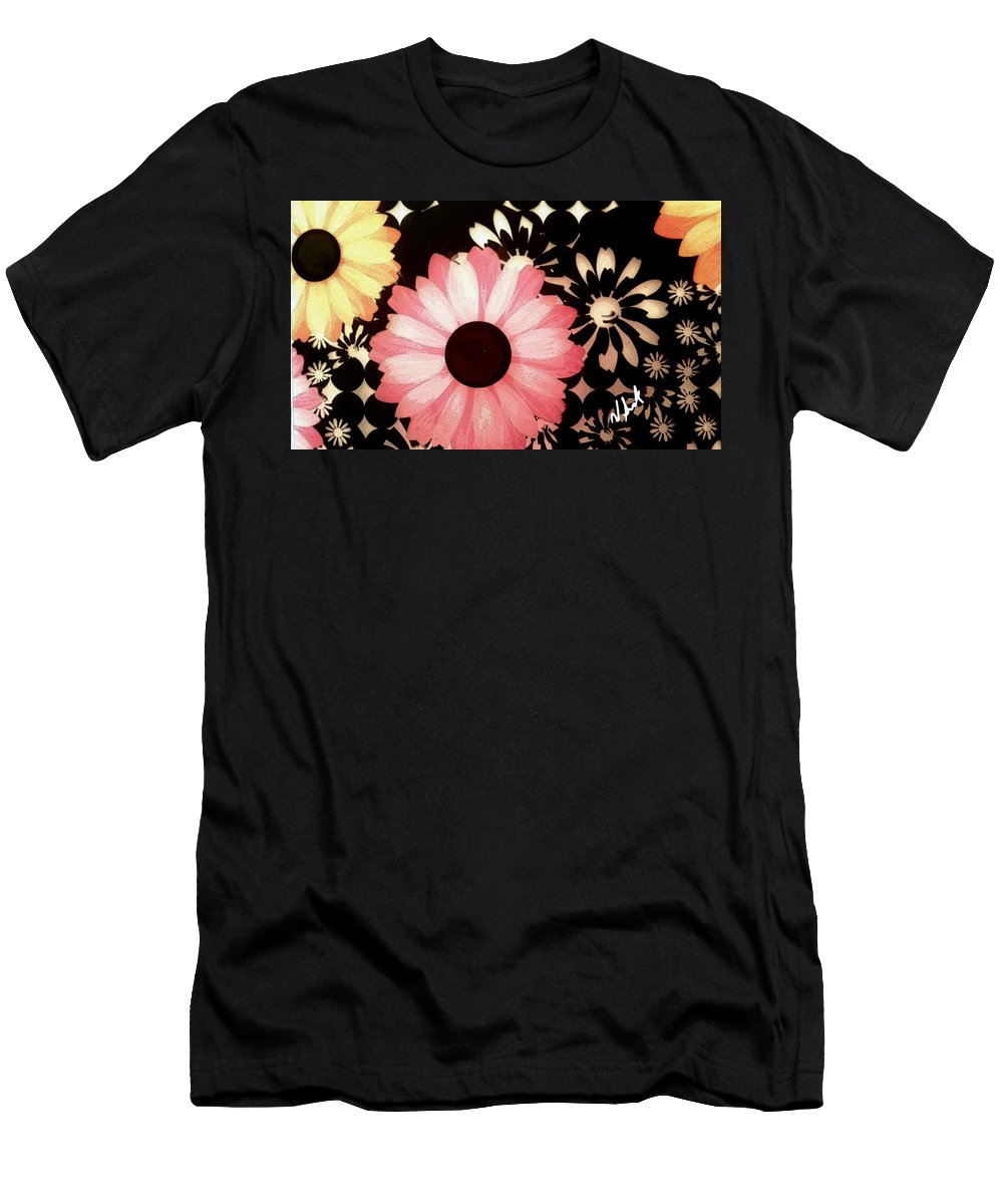 Flowers Men's T-Shirt (Athletic Fit) featuring the painting Florecer Florish by Vanessa Sisk