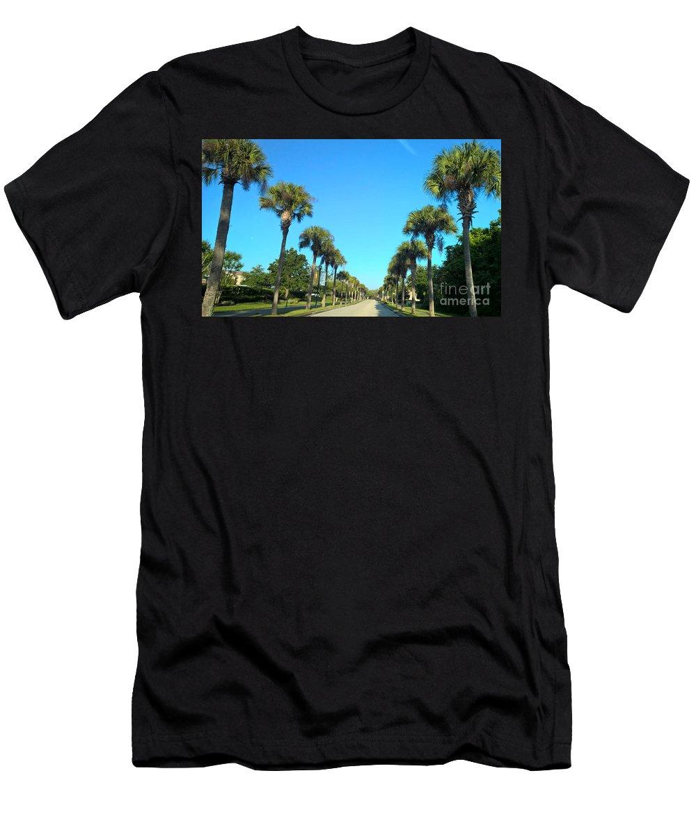 Florida Palms Men's T-Shirt (Athletic Fit) featuring the photograph Florida Palms by Janet Deskins