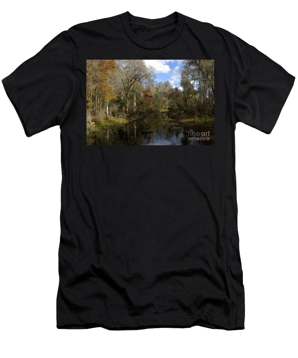 Wetlands Men's T-Shirt (Athletic Fit) featuring the photograph Florida Wetlands by David Lee Thompson